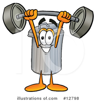Trash Can Character Clipart #12798 by Toons4Biz