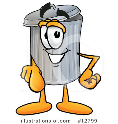 Trash Can Character Clipart #12799 by Toons4Biz
