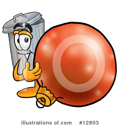 Trash Can Character Clipart #12803 by Toons4Biz