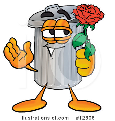 Trash Can Character Clipart #12806 by Toons4Biz