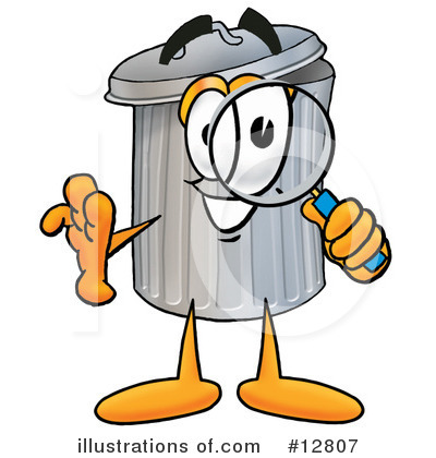 Trash Can Character Clipart #12807 by Toons4Biz