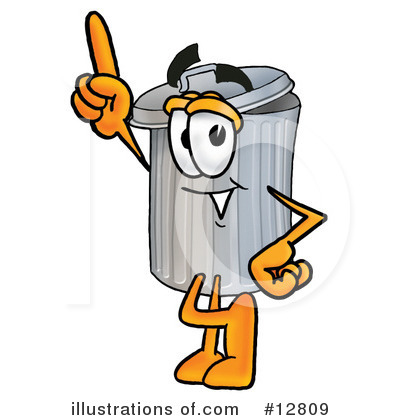 Trash Can Character Clipart #12809 by Toons4Biz