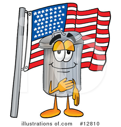 Trash Can Character Clipart #12810 by Toons4Biz