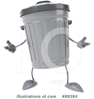 Trash Can Clipart #88384 by Julos
