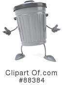 Trash Can Character Clipart #88384 by Julos