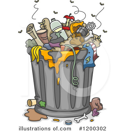 Garbage Can Clipart #1200302 by BNP Design Studio