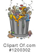 Trash Can Clipart #1200302 by BNP Design Studio