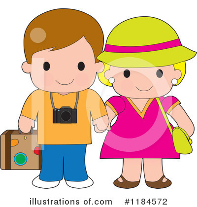 Tourists Clipart #1184572 by Maria Bell