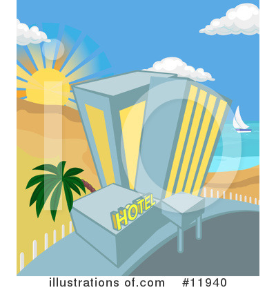 Beach Clipart #11940 by AtStockIllustration