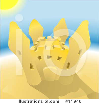 Sand Castle Clipart #11946 by AtStockIllustration