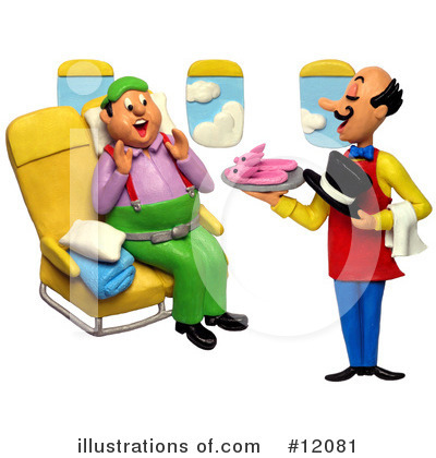 Airplane Clipart #12081 by Amy Vangsgard