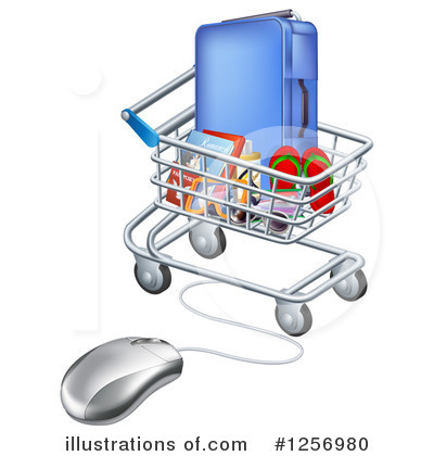 Shopping Cart Clipart #1256980 by AtStockIllustration
