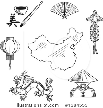 Map Clipart #1384553 by Vector Tradition SM
