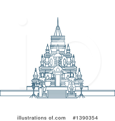 Pagoda Clipart #1390354 by Vector Tradition SM