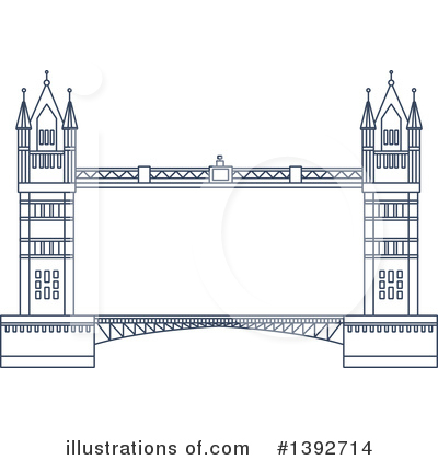 Bridge Clipart #1392714 by Vector Tradition SM