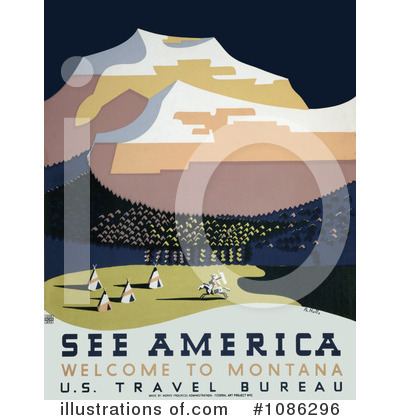Royalty-Free (RF) Travel Posters Clipart Illustration by JVPD - Stock Sample #1086296