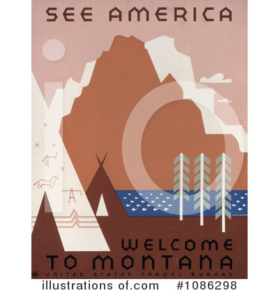 Travel Posters Clipart #1086298 by JVPD