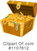 Royalty-Free (RF) Treasure Chest Clipart Illustration #1107812