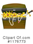 Royalty-Free (RF) treasure chest Clipart Illustration #1176773