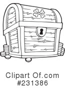 Royalty-Free (RF) Treasure Chest Clipart Illustration #231386