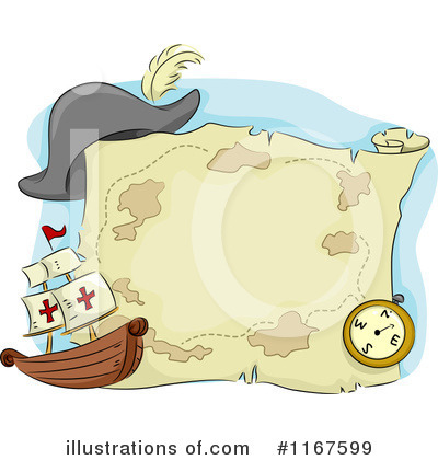 Royalty-Free (RF) Treasure Map Clipart Illustration by BNP Design Studio - Stock Sample #1167599