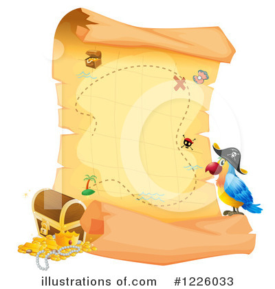 Treasure Map Clipart #1226033 by Graphics RF