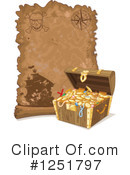 Royalty-Free (RF) Treasure Map Clipart Illustration #1251797