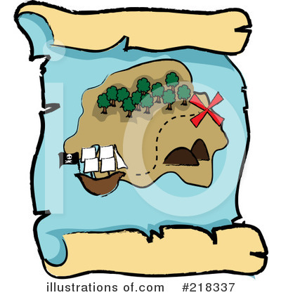 Royalty-Free (RF) Treasure Map Clipart Illustration by Pams Clipart - Stock Sample #218337