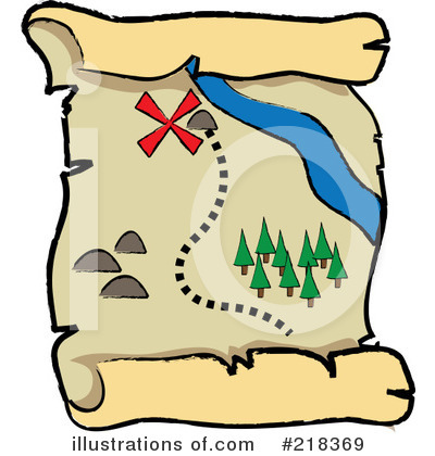 Royalty-Free (RF) Treasure Map Clipart Illustration by Pams Clipart - Stock Sample #218369