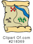 Royalty-Free (RF) Treasure Map Clipart Illustration #218369