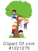 Tree Climbing Clipart #1221276 by BNP Design Studio