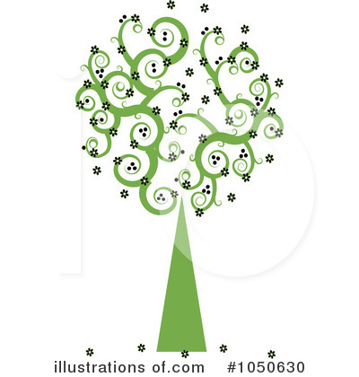 Royalty-Free (RF) Tree Clipart Illustration by Pams Clipart - Stock Sample #1050630