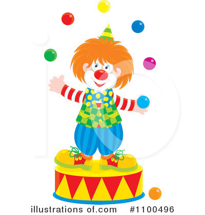 Clown Clipart #1100496 by Alex Bannykh