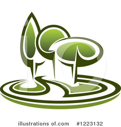 Trees Clipart #1223132 by Vector Tradition SM