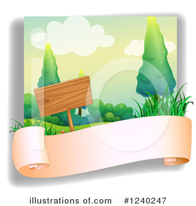 Wood Sign Clipart #1240247 by Graphics RF