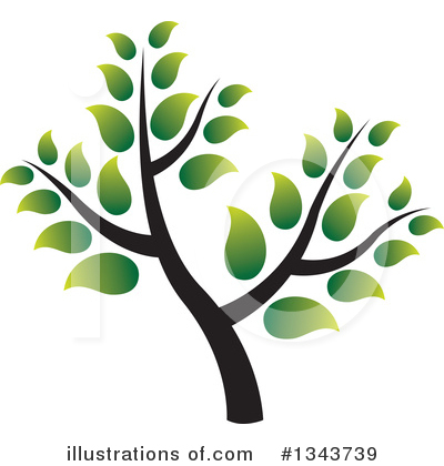 Tree Clipart #1343739 by ColorMagic