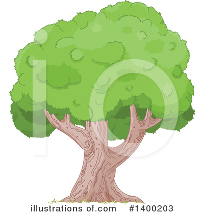 Tree Clipart #1400203 by Pushkin