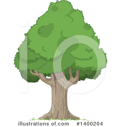 Tree Clipart #1400204 by Pushkin