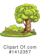 Tree Clipart #1412357 by merlinul