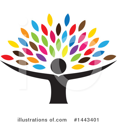 Royalty-Free (RF) Tree Clipart Illustration by ColorMagic - Stock Sample #1443401