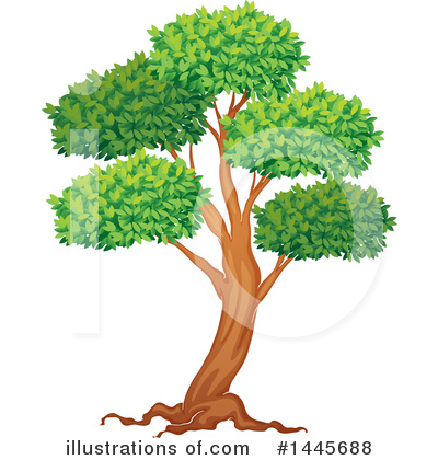 Tree Clipart #1445688 by Graphics RF