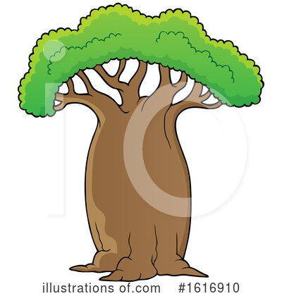 Royalty-Free (RF) Tree Clipart Illustration by visekart - Stock Sample #1616910
