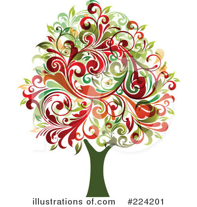Royalty-Free (RF) Tree Clipart Illustration by OnFocusMedia - Stock