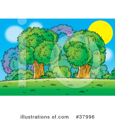 Royalty-Free (RF) Tree Clipart Illustration by Alex Bannykh - Stock Sample #37996