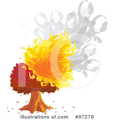 Royalty-Free (RF) Tree Clipart Illustration by PlatyPlus Art - Stock Sample #97278