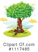 Royalty-Free (RF) Tree House Clipart Illustration #1117485
