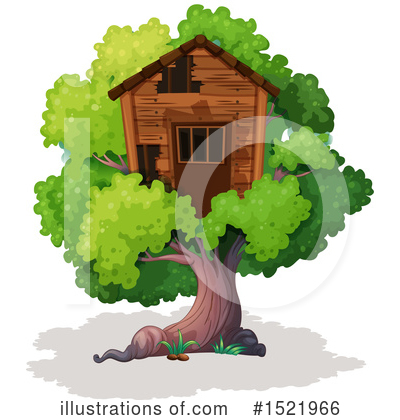 Tree House Clipart #1521966 by Graphics RF