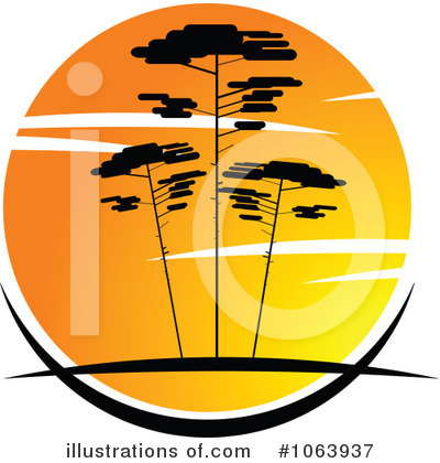 Trees Clipart #1063937 by Vector Tradition SM