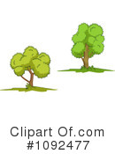 Trees Clipart #1092477 by Vector Tradition SM