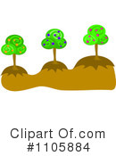 Royalty-Free (RF) Trees Clipart Illustration #1105884